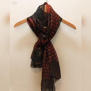 Alexander McQueen chiffon silk scarf